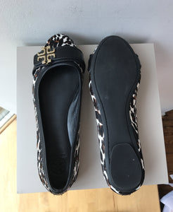 Tory Burch leopard print calf hair eloise 2 flats size 7.5 - My Girlfriend's Wardrobe York Pa