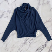 Free People blue sweater NWT - My Girlfriend's Wardrobe York Pa