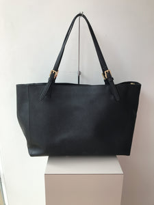 Tory Burch black leather tote - My Girlfriend's Wardrobe York Pa