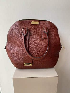 Burberry red leather Gold Heritage Orchard medium bag