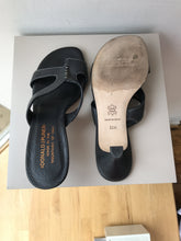 Donald Pliner black leather sandals size 5.5 - My Girlfriend's Wardrobe York Pa