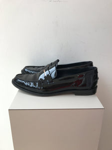Meandher black patent Valentina loafer size 41 retail $445 - My Girlfriend's Wardrobe York Pa