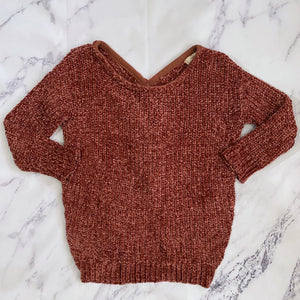 Entro rust super soft knotted sweater - My Girlfriend's Wardrobe York Pa