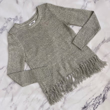 BB Dakota gray fringe sweater - My Girlfriend's Wardrobe York Pa