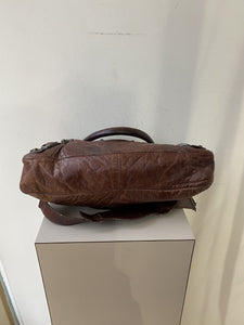 Balenciaga brown leather first city bag - My Girlfriend's Wardrobe York Pa