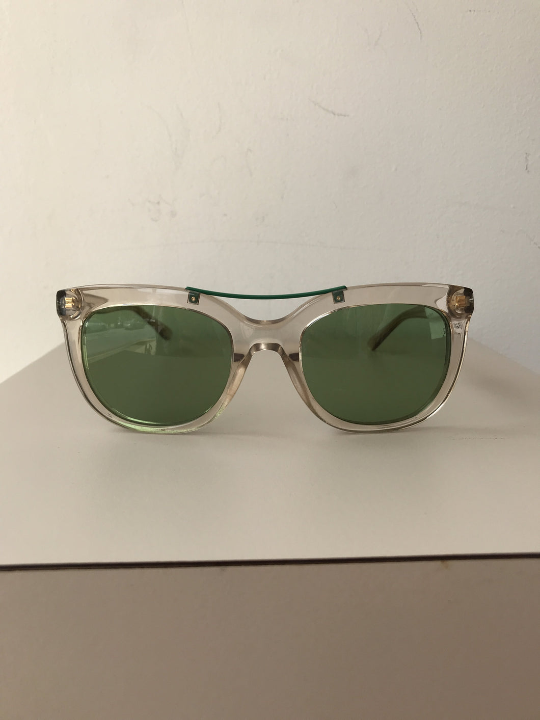 Tory Burch tan and green sunglasses TY7105 - My Girlfriend's Wardrobe York Pa