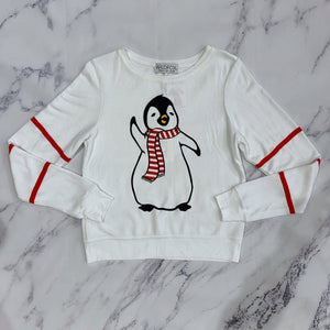 Wildfox white and black penguin shirt NWT