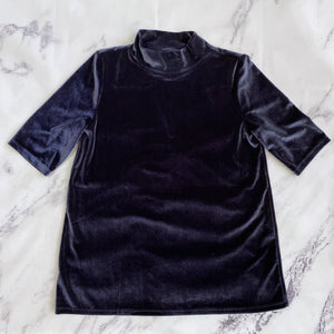 Loft navy velour top - My Girlfriend's Wardrobe York Pa