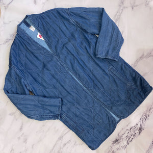 Marine Layer chambray quilted cardigan - My Girlfriend's Wardrobe York Pa