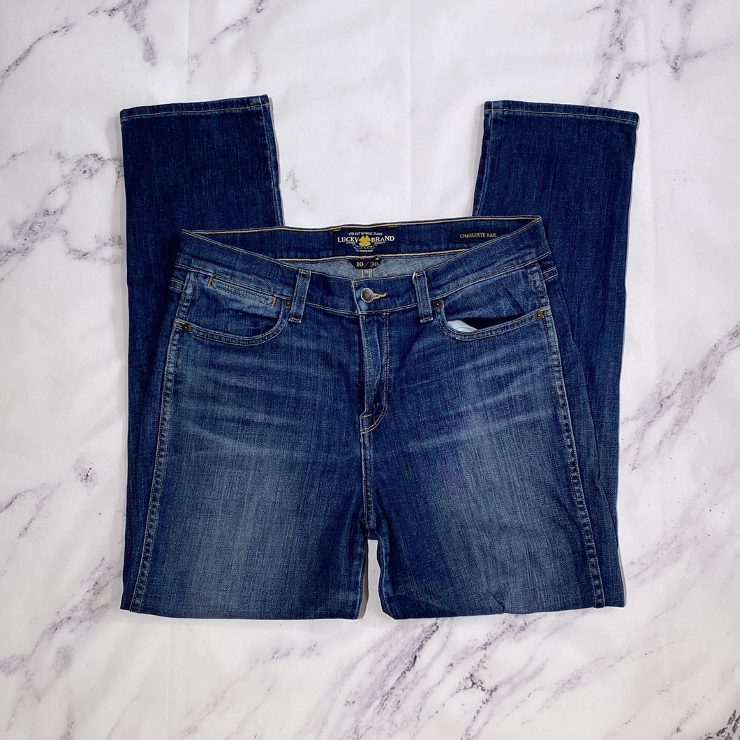 Lucky Brand Charlotte Rail jeans size 10 - My Girlfriend's Wardrobe LLC