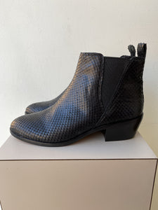 Vince Camuto black snake embossed ankle boots size 7 NEW - My Girlfriend's Wardrobe York Pa