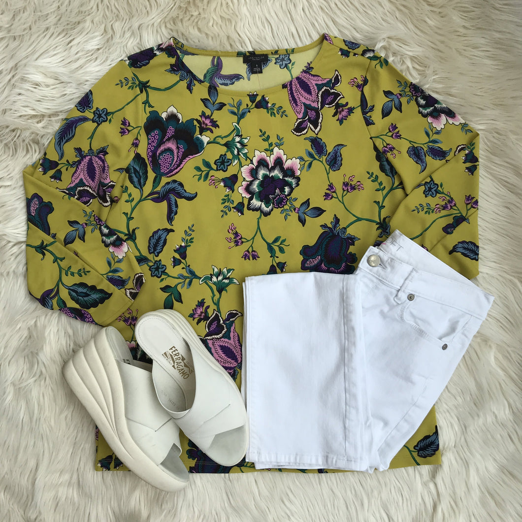 Floral and White Denim - My Girlfriend's Wardrobe York Pa