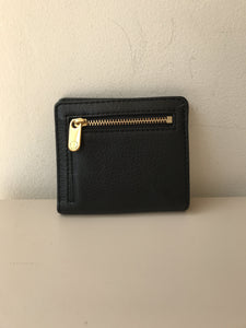 Marc by Marc Jacobs black leather bifold small wallet - My Girlfriend's Wardrobe York Pa