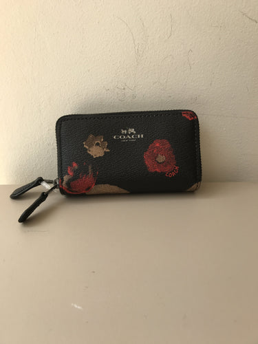 Coach floral double zip card holder - My Girlfriend's Wardrobe York Pa