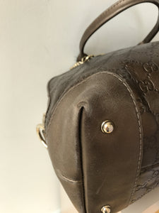Gucci Metallic Guccissima Heart Bit Charm Dome Satchel Bronze - My Girlfriend's Wardrobe York Pa