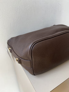 Bottega Veneta brown small leather bag - My Girlfriend's Wardrobe York Pa