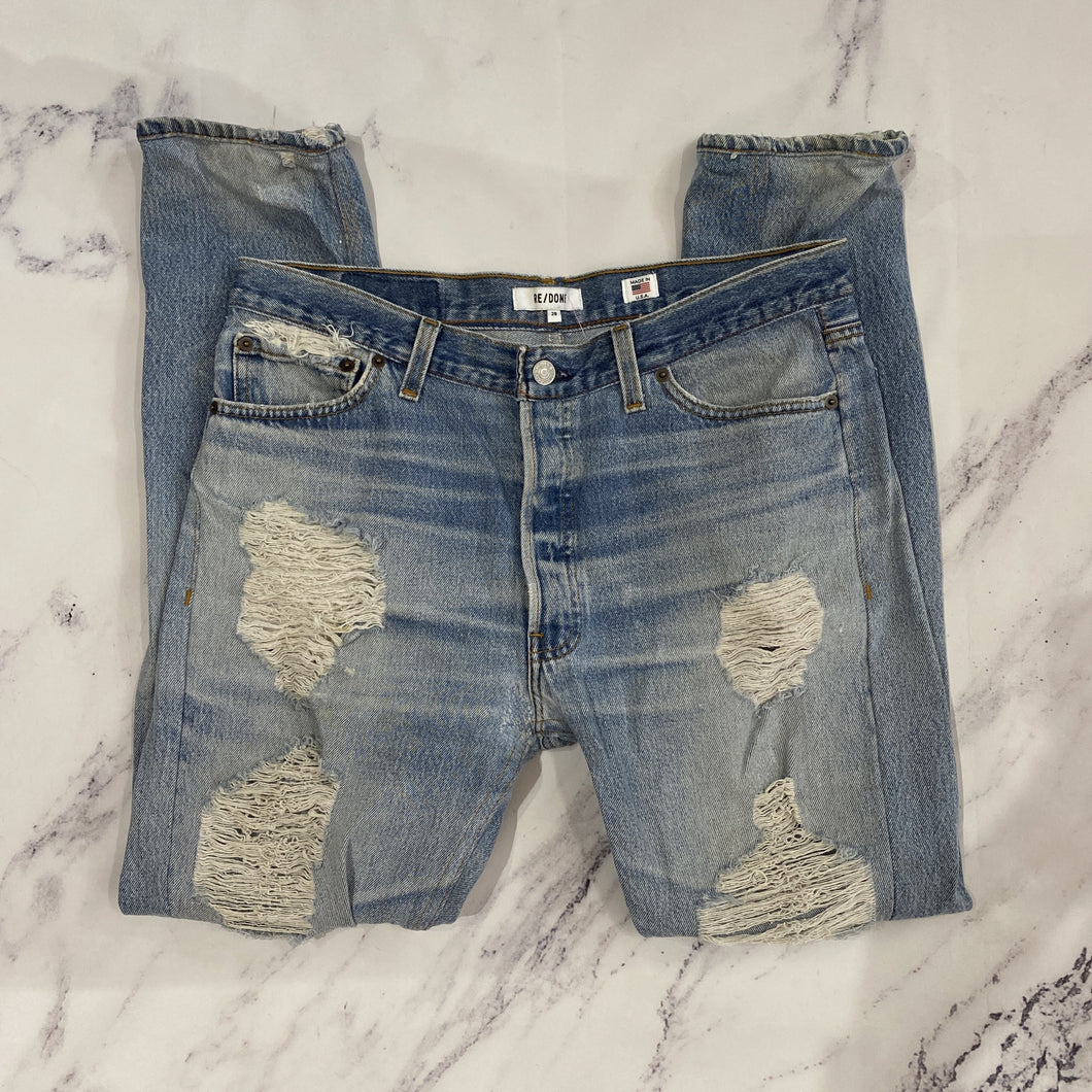 Re/Done super distressed skinny jeans - My Girlfriend's Wardrobe York Pa