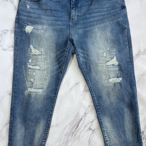 Lucky Brand Orta premium distressed embroidered jeans - My Girlfriend's Wardrobe York Pa