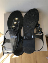 Coach black floral jelly sandals size 11 - My Girlfriend's Wardrobe York Pa