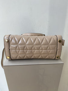 Michael Kors nude patent quilted crossbody