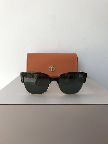 Tory Burch tortoise and gold sunglasses - My Girlfriend's Wardrobe York Pa