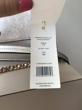 Tory Burch silver robinson metallic shoulder bag NWT - My Girlfriend's Wardrobe York Pa