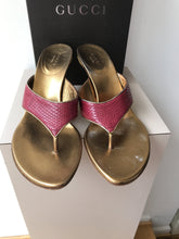 Gucci pink gold heeled slides size 9 - My Girlfriend's Wardrobe York Pa