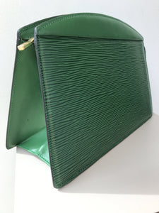 Louis Vuitton epi borneo green zip pouch - My Girlfriend's Wardrobe York Pa