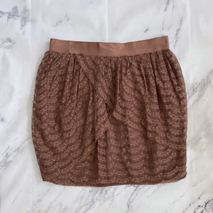 J.Crew mauve lace skirt - My Girlfriend's Wardrobe York Pa