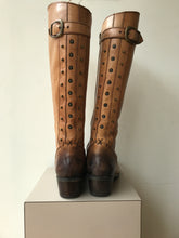Lucky Brand camel leather knee high boots size 8 - My Girlfriend's Wardrobe York Pa