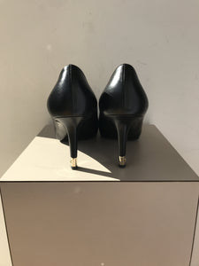 Chanel black leather pumps size 38.5 - My Girlfriend's Wardrobe York Pa
