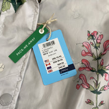 Joules gray and multi color floral rain jacket NWT - My Girlfriend's Wardrobe York Pa