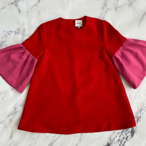 Edit red and pink short sleeve top NWT - My Girlfriend's Wardrobe York Pa