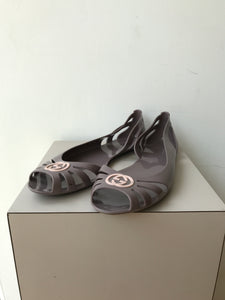 Gucci purple Marola jelly flats size 40 (9.5) - My Girlfriend's Wardrobe York Pa