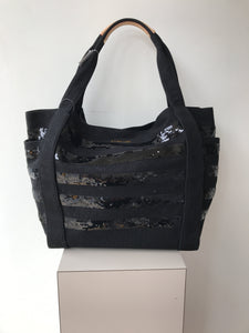 MZ Wallace black sequined cloth tote NWT - My Girlfriend's Wardrobe York Pa