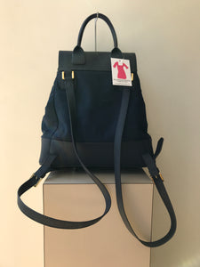 Tory Burch navy nylon leather Dena backpack - My Girlfriend's Wardrobe