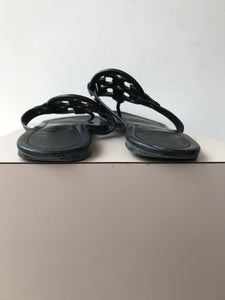 Tory Burch black leather miller sandals size 9 - My Girlfriend's Wardrobe York Pa