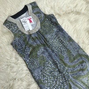 Trina Turk navy and green shift dress size 10 NWT - My Girlfriend's Wardrobe York Pa