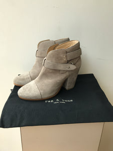 Rag & Bone gray suede harrow boots size 38 NEW - My Girlfriend's Wardrobe
