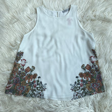 Dalia cream and floral tank - My Girlfriend's Wardrobe York Pa