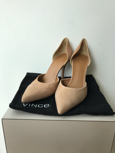 Vince tan suede pointed heels size 9 - My Girlfriend's Wardrobe