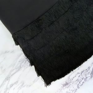 Kate Spade blacks short sleeve fringe dress - My Girlfriend's Wardrobe York Pa