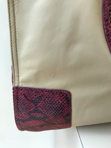 Tory Burch large tan snake print Ella tote - My Girlfriend's Wardrobe