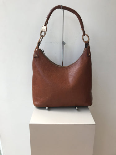 Gucci brown leather shoulder bag - My Girlfriend's Wardrobe York Pa