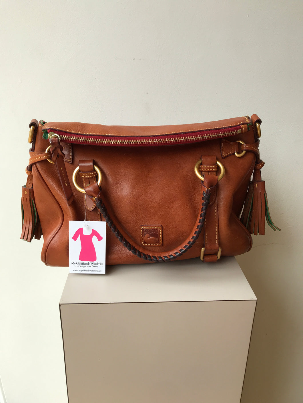 Dooney and Bourke brown small satchel - My Girlfriend's Wardrobe