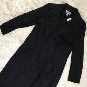 Chelsea28 Black lace trench coat - My Girlfriend's Wardrobe York Pa