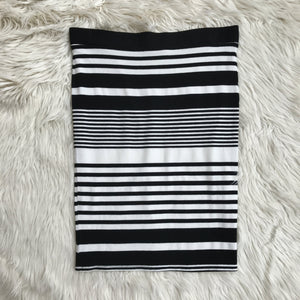 Trina Turk black white striped pencil skirt - My Girlfriend's Wardrobe York Pa