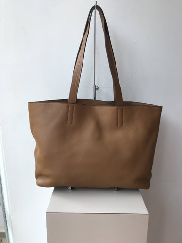 Prada brown leather slouchy tote