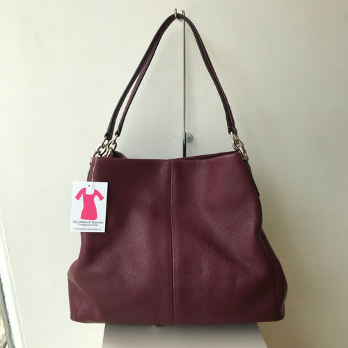 Coach purple/berry madison phoebe shoulder bag F35723 - My Girlfriend's Wardrobe