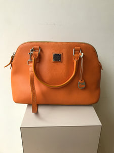 Dooney and Bourke orange satchel - My Girlfriend's Wardrobe